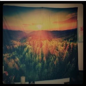 mountainscape tapestry